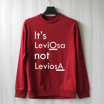 It's Leviosa Not Leviosa Harry Potter Shirt Sweatshirt Sweater Shirt – Size XS S M L XL