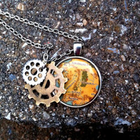Map Of Middle Earth - Lord Of The Rings Inspired Necklace