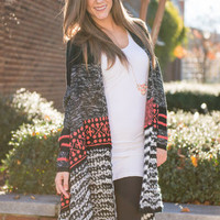 All The Love Cardigan, Black-Coral