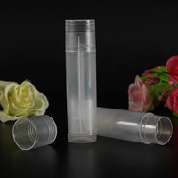 10Pcs Empty Clear Lip Balm Tubes Containers Mini Transparent Lipstick Bottle