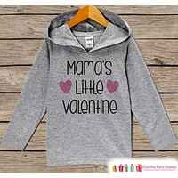 Kids Valentines Day Outfit - Girl's Hoodie - Mama's Little Valentine Pullover - Girls Valentine's Day Outfit - Baby, Kids, Toddler Hoodie