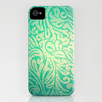 Teal Spring Paisley iPhone Case by TheLeb   Society6