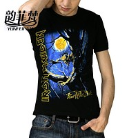 2016 Newest Personality Men'S Iron Maiden T Shirts 3 D Printed Iron Maiden Cotton Short-sleeve T-shirt Casual T Shirts Boys P024