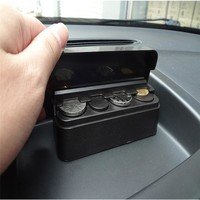 Car Coin Case Loose change Storage Box Money Wallet Piggy Bank Holder Organizer