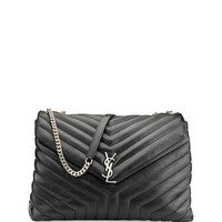Monogram Y-Quilted XL Slouchy Chain Shoulder Bag
