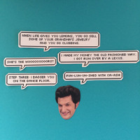 Jean Ralphio Quotes Sticker Set