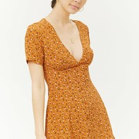 Ditsy Floral Flare Dress