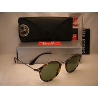 Cheap Ray Ban 2447 Spotted Green w Green Lens NEW sunglasses (RB2447 11594E) outlet