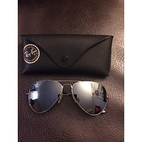 Ray Ban Womens Aviator Sunglasses Silver