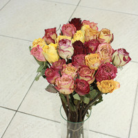 30 Natural Dry Roses -Natural Color-dried flowers, Roses for Weddings, Luck-Love-Romance and all other Matters of the Heart - Flower Bouquet
