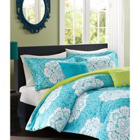 Bella Medallion Teal Bedding Set