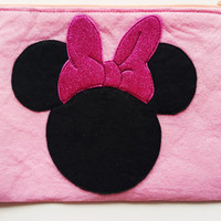 Minnie Mouse Zip Purse, Makeup Bag, Coin Purse, Small Accessory Pouch ,Cigarette Cases,Cosmetic Bag,Credit Card CaseFREE SHIPPING