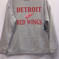 NHL Detroit Red Wings Terry Cloth Crew Neck Long Sleeve Top