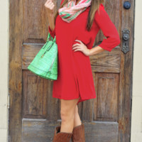 Loving You Is Fun Dress: Bright Red | Hope's
