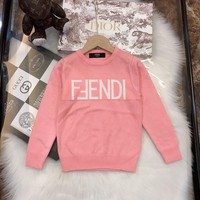 Fendi Girls Sweaters Children's pullover Floral Sweater Girls pullover baby girls Autumn&winter clothes Kids thick coat