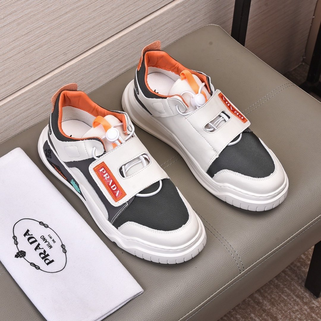 Image of prada men fashion boots fashionable casual leather breathable sneakers running shoes 72