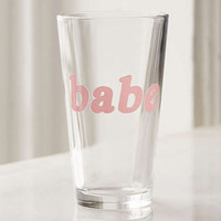 Babe Pint Glass | Urban Outfitters