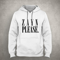 Zayn please. - For fangirl & fanboy - Hipster design - Gray/White Unisex Hoodie - HOODIE-089