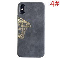Versace Fashion New Human Head Letter Print Anti-Fall Women Men Phone Case Protective Cover