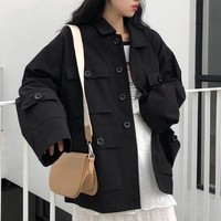 Oversized Cargo Pocket Jacket