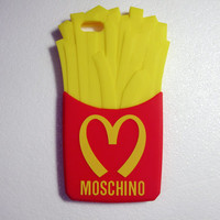 French Fries Starbucks Fast Food iPhone 5 6 Plus Case