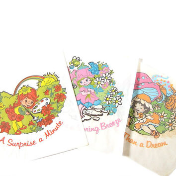 Iron-On Transfers Avon Little Blossom and Friends Vintage Fabric Designs