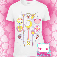 Kawaii Fairy Kei Pastel Goth Choose Your Weapon Magical Girl Women's Tee S through 2XL