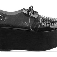 Jeffrey Campbell Stinger Spike in Black Pewter at Solestruck.com