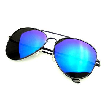 Emblem Eyewear - Full Mirror Flash Mirrored Polarized Aviator Sunglasses