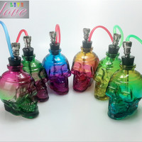 Mini Skull Glass Water Pipes - Random Color