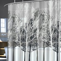 Forest Peva Shower Curtain (Grey)