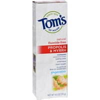 Tom's Of Maine Natural Fluoride-free Baking Soda Toothpaste With Propolis And Myrrh Gingermint - 4 Oz - Case Of 6