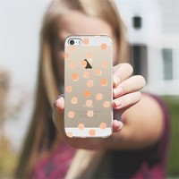 Peachy Boss Dots - Transparent/Clear Background iPhone 5s case by Lisa Argyropoulos   Casetagram