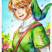 'Link is happy to see you (Legend Of Zelda)' Photographic Print by laovaan