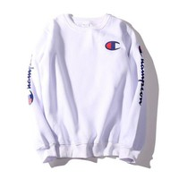 DCCKJH2 Champion Fashion Long Sleeves Round Neck Sweats Top