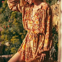 2020 New Women's Loose Floral Print Long Sleeve Dress