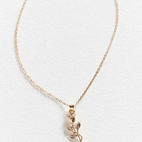 Simple Rose Pendant Necklace | Urban Outfitters
