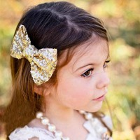 Candy Color Sequin Bow