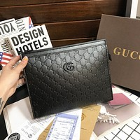 GUCCI Fashionable temperament bag in hand Business envelope bag casual hand bag man-1