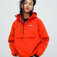 Dickies overhead hooded jacket with half zip front pocket at asos.com