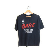 Vintage D.A.R.E TShirt Grunge / Odd Fellows Rebekahs Tee shirt