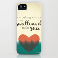 Swallowed in the Sea iPhone Case by Katiepalamaro | Society6