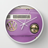 Summer of Love - Radiant Orchid Wall Clock by Olivia Joy StClaire