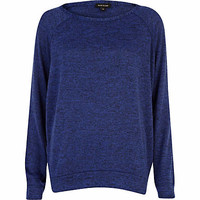 Blue marl slouchy oversized top