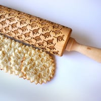 Embossing rolling pin - Cat pattern