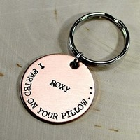 Funny copper pet tag with personalized name
