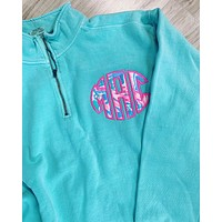 Lilly Pulitzer Monogrammed Comfort Colors Quarter zip
