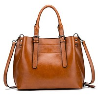 New fashion leather shoulder bag handbag messenger bag Brown