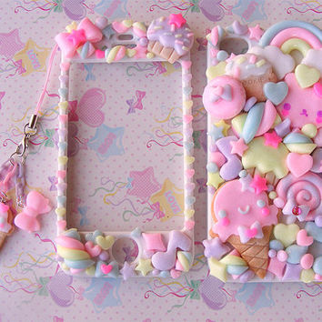 Super cute kawaii front back case for Iphone 4 4s 5 galaxy s2 s3 s4