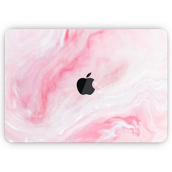 "Marbleized Pink Paradise V6 - Skin Decal Wrap Kit Compatible with the Apple MacBook Pro, Pro with Touch Bar or Air (11"", 12"", 13"", 15"" & 16"" - All Versions Available)"